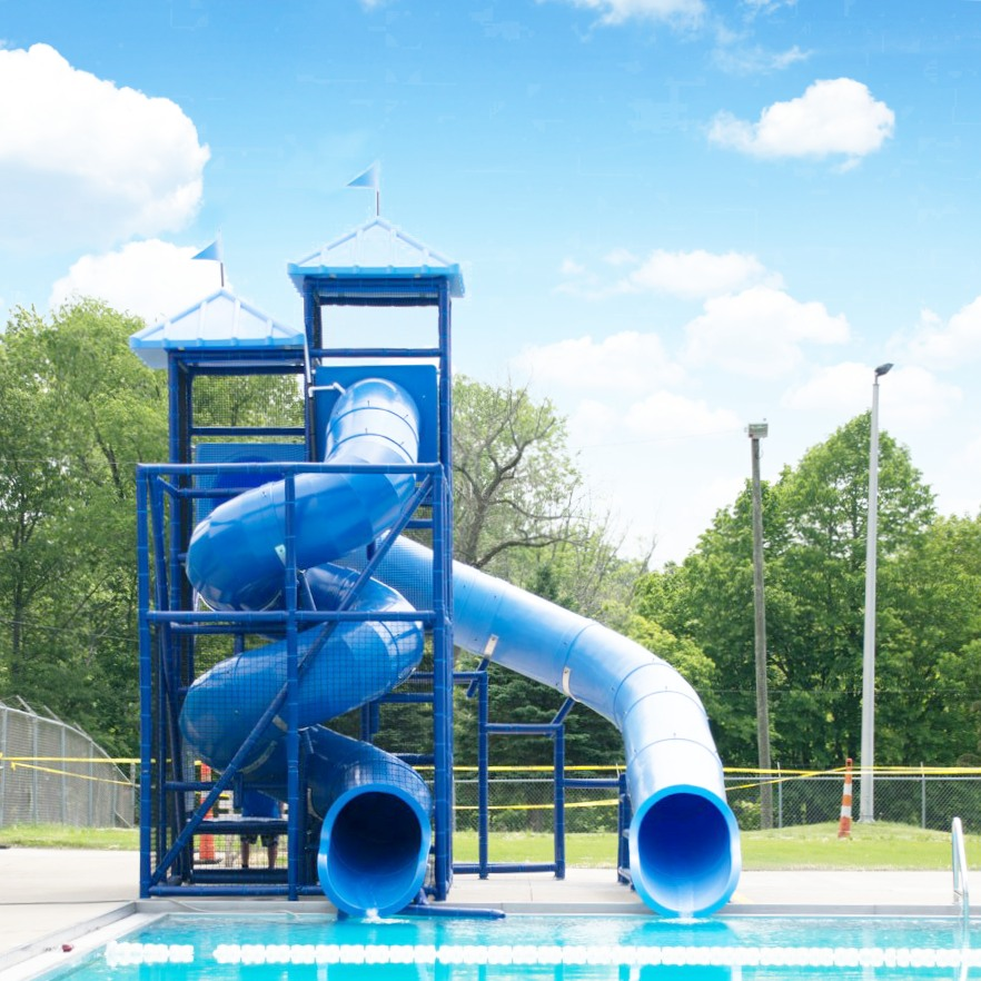 New slides at Aumiller Park Pool