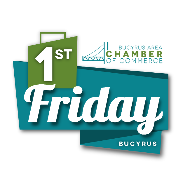 Bucyrus Area Chamber of Commerce First Friday Bucyrus Logo