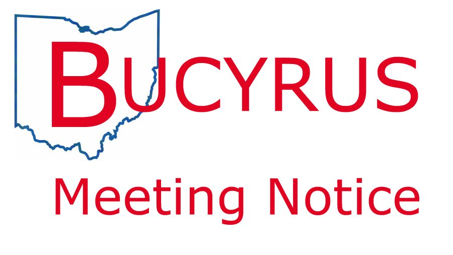 graphical image Bucyrus meeting notice